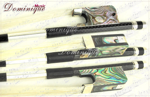 D Z Strad Cello Bow - Model 856 - Carbon Fiber Bow with Traditional Frog made from Polished Premium Abalone