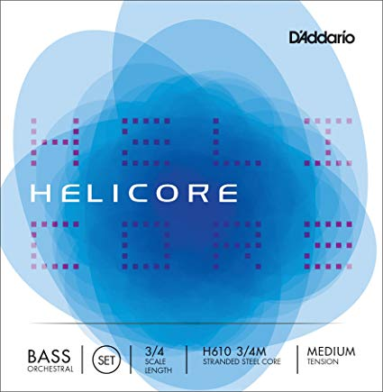 D'Addario Helicore Orchestral Bass Strings (3/4-Full Set)