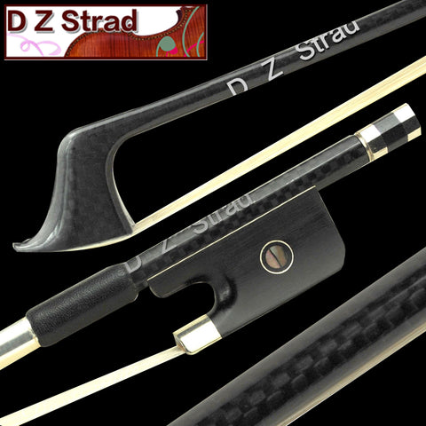 D Z Strad Model 715 Bass Bow Carbon Fiber French Style Size 3/4 (Size - 3/4)