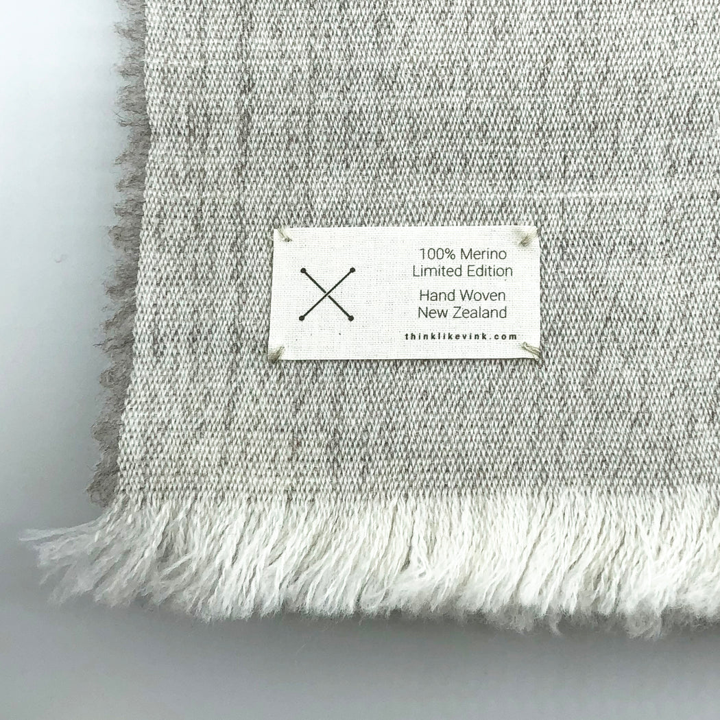 Maggie Wrap in Mist - Hand Woven in New Zealand *OTC