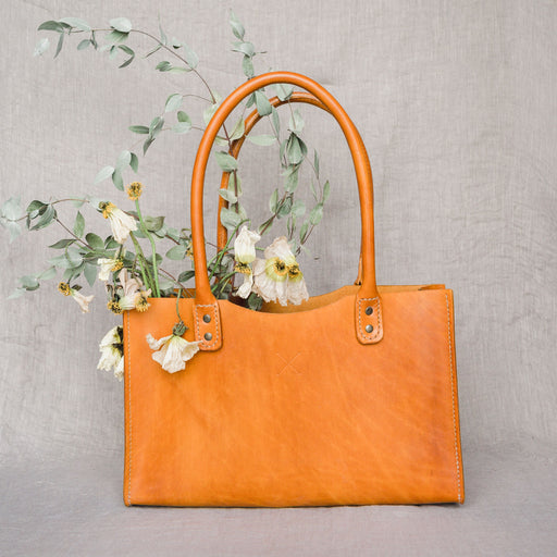 Nettie Tote Bag in Mustard - Made by Hand in New Zealand