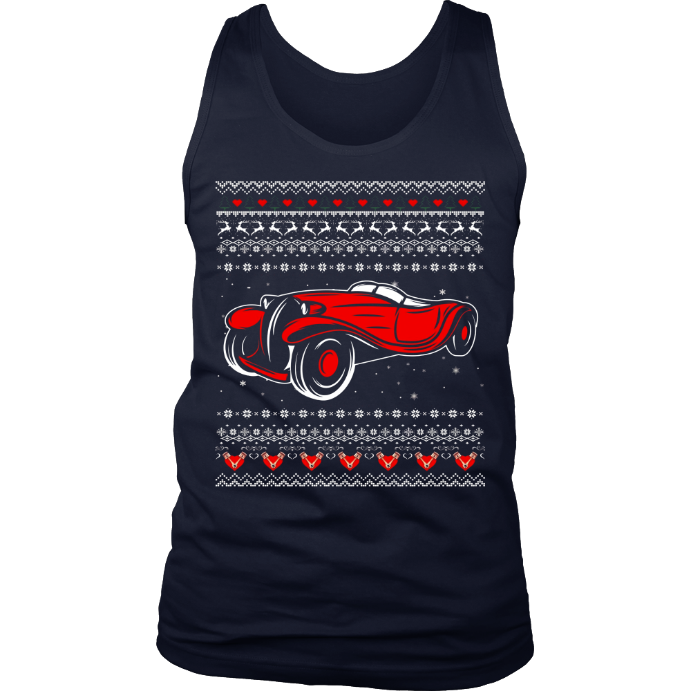 Classic Car Ugly Christmas Sweater T-shirt- Dragonstee T-Shirt ...