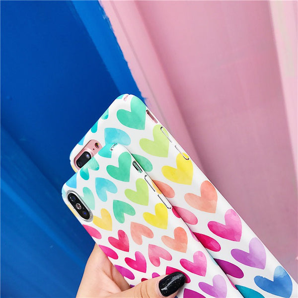 Colorful Heart Case (Iphone Oppo Huawei Samsung)