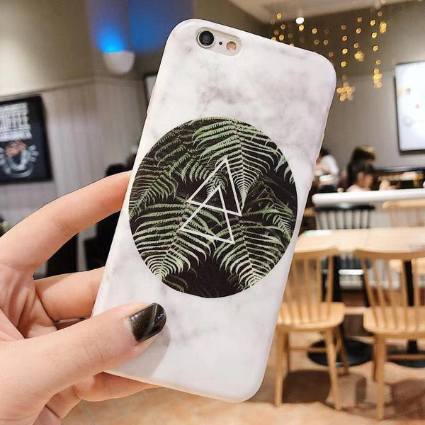 Triangle Marble Case (Iphone Oppo Huawei Vivo Samsung)