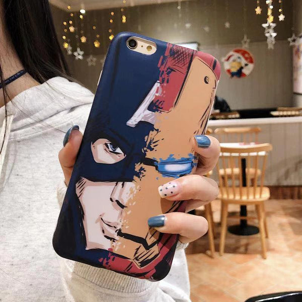 Captain America Iron Man Case (Iphone Oppo Huawei Samsung) - Thrifty Project - Wholesale - Las Piñas, Philippines