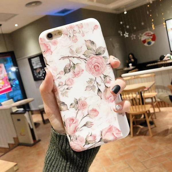 Pink Flower Case (Iphone Oppo Huawei Samsung) - Thrifty Project - Wholesale - Las Piñas, Philippines