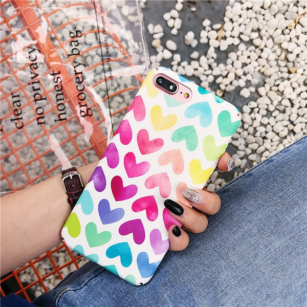 Colorful Heart Case (Iphone Oppo Huawei Samsung) - Thrifty Project - Wholesale - Las Piñas, Philippines