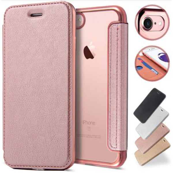 Luxury Clear Flip Cover Case (Iphone Oppo Huawei Samsung) - Thrifty Project - Wholesale - Las Piñas, Philippines