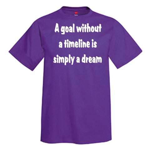 A Goal Without A Timeline Is Simply A Dream  T-Shirt
