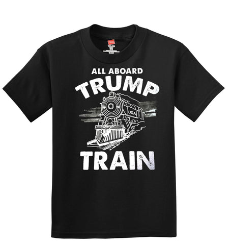 All Aboard TRUMP Train T-Shirt  ---  President Donald Trump