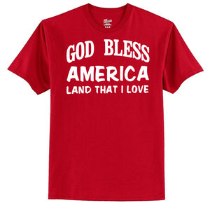 God Bless America Land That I Love  T-Shirt