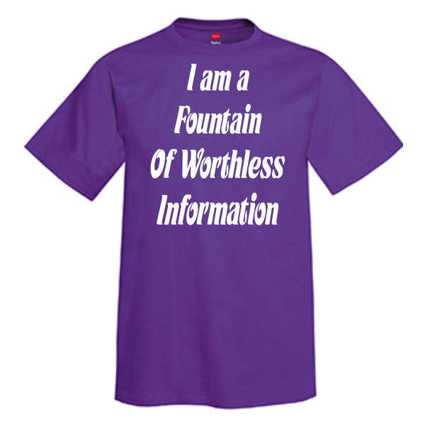I Am A Fountain Of Worthless Information T-Shirt
