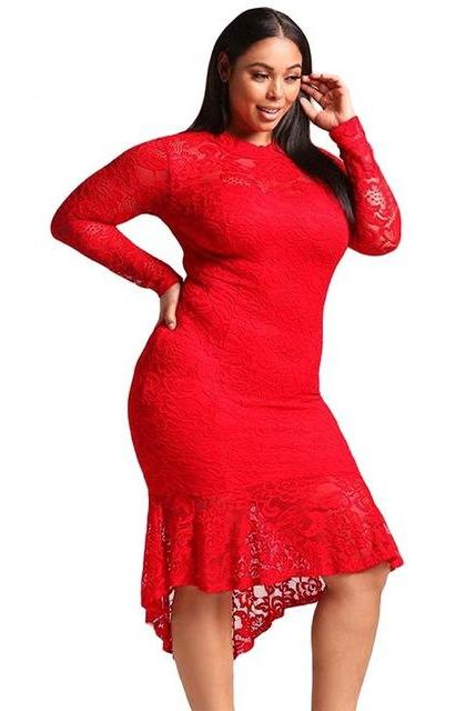 Red long sleeve club dresses sexy