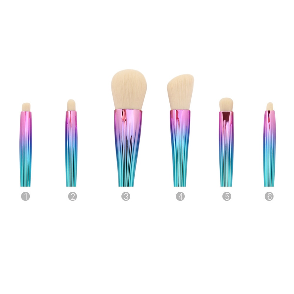 NIXIE PIXIE 6PCS MAKEUP BRUSH SET - TUSI Cosmetics