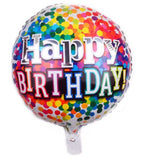 Printed Foil Happy Birthday Balloon