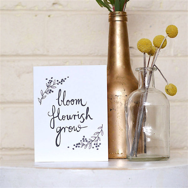 Bloom Flourish Grow Card