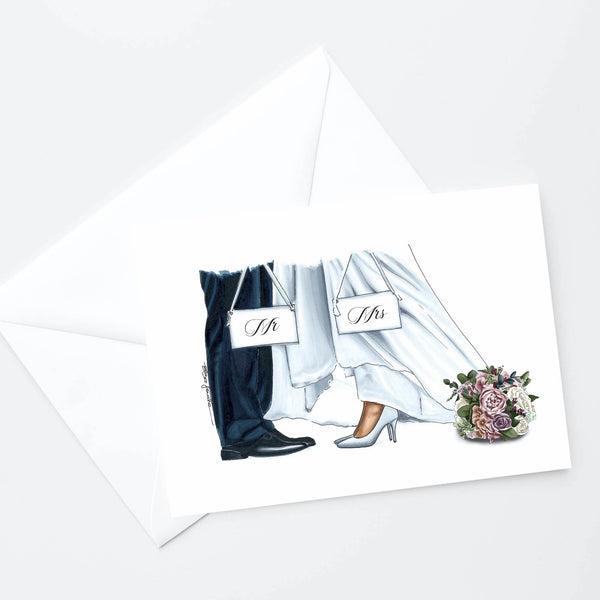 Mr & Mrs Shoes Card