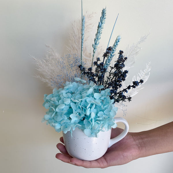 Mini Cup Arrangement - Blue