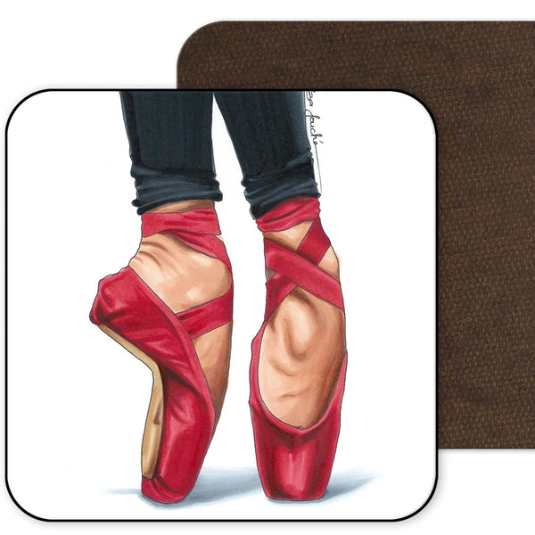 Red Ballet Shoes Coaster