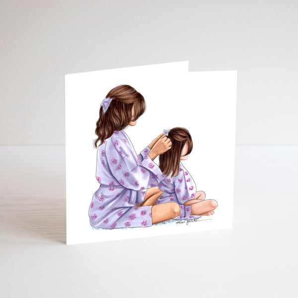 Mother and Daughter Card
