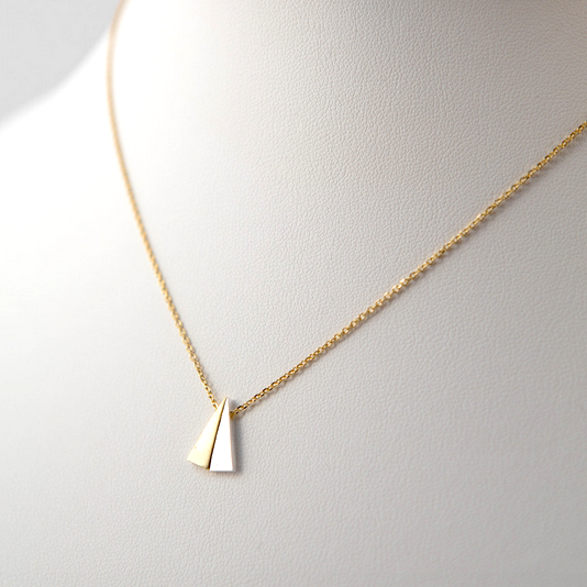 Dual Triangle Pendant Necklace