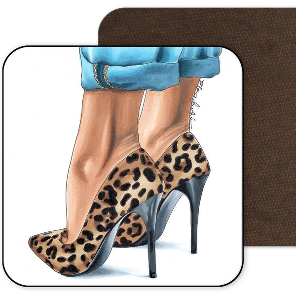 Leopard and Jeans Coaster