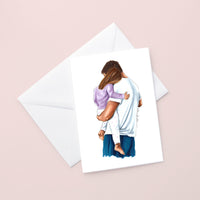 Father and Daughter Card