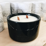 Black Slate Marble Candle (Double Wick)