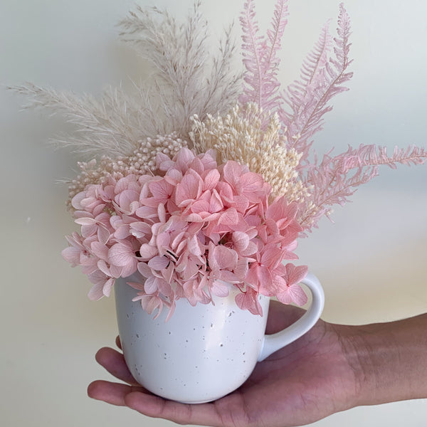 Mini Cup Arrangement - Pink