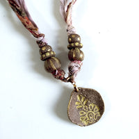 Necklace Yellow Tribal Leaf