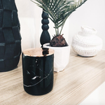 Black Slate Marble Candle (Single Wick)