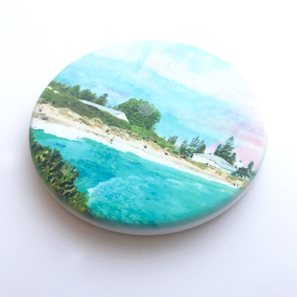 Bathers Beach, Fremantle, Hand Printed Ceramic Coaster