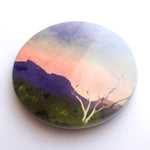 Sunset Over Bluff Knoll, Stirling Range National Park, WA Hand Printed Ceramic Coaster