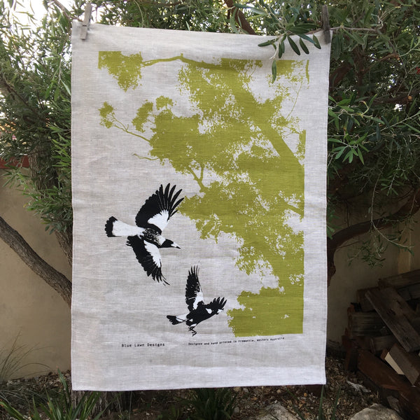 Magpies Tea Towel