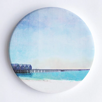 Busselton Jetty, WA Hand Printed Ceramic Coaster