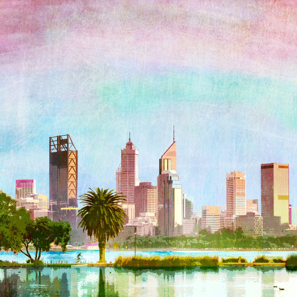 Perth City Skyline, Art Print