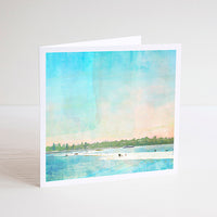 The Sandbar At Point Walter, Swan River, Perth Notecard