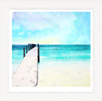 Quindalup Beach and Jetty, WA Art Print