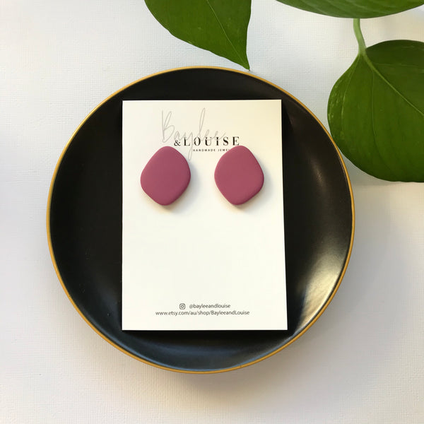 Terra Large Studs in Berry