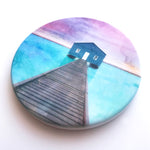 Crawley Boathouse, Perth, WA Hand Printed Ceramic Coaster