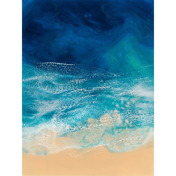 Resin Art Print - City Beach