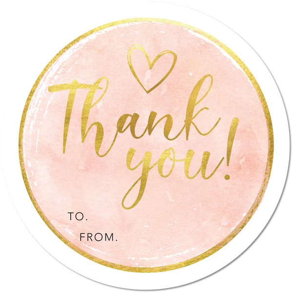 Gold Thank You - Set of 6