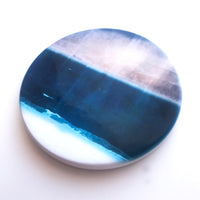 Moody Skies At Port Beach, North Fremantle, Hand Printed Ceramic Coaster