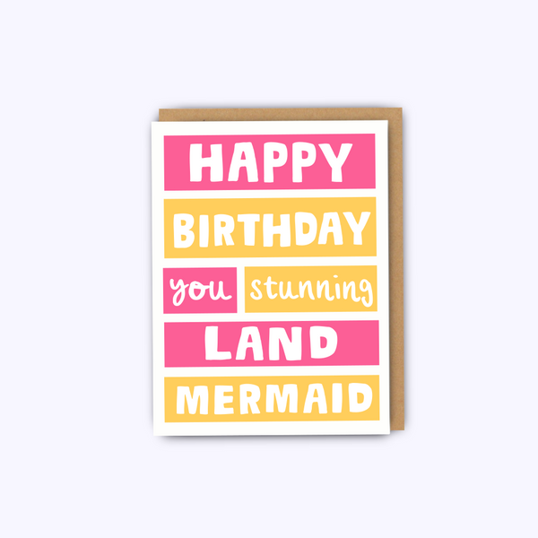 Stunning Land Mermaid Card