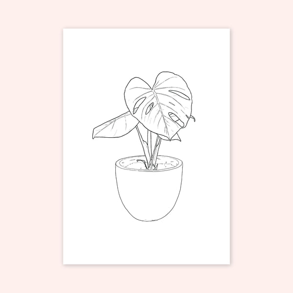 A3 Print of Monstera Deliciosa from the Nature is Grand Botanic Series