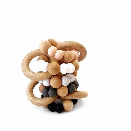 Rattle Silicone Bead Teether