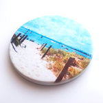 Summer Days at South Beach, Fremantle, Hand Printed Ceramic Coaster