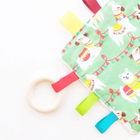 Sensory Blanket with Teething Ring