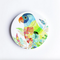 Rainbow Lorikeet, Hand Printed Ceramic Coaster