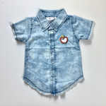Chambray Demin Fray Shirt
